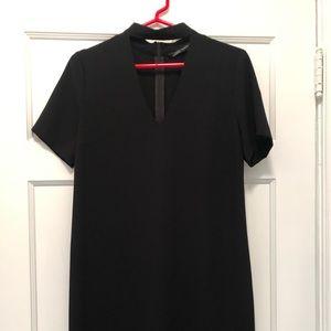 Zara black dress with keyhole cut out